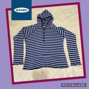 Old Navy, Woman's Striped Hoodie Sweater